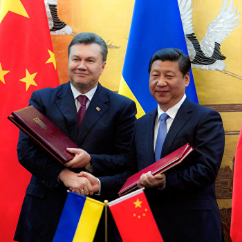 Подписание договора о дружбе и сотрудничестве между Украиной и КНР