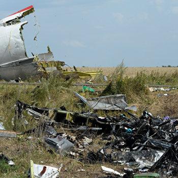 Сотрудники миссии ОБСЕ и эксперты работают на месте крушения малайзийского Boeing 777