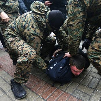 Митинг против подорожания цен на проезд в столице Украины