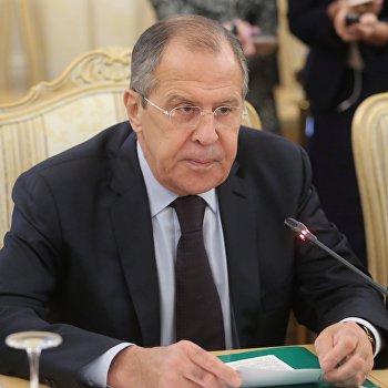 Встреча глав МИД России, Ирана и Сирии С. Лаврова, М. Зарифа и В. Муаллема