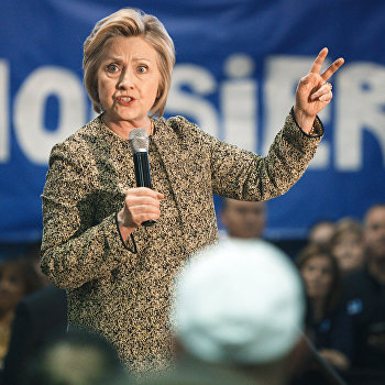 Кандидат в президенты США от Демократической партии Хиллари Клинтон в штате Индиана