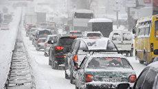 Чрезвычайная ситуация объявлена в Киеве из-за снегопада