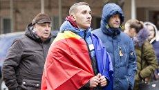 Акция протеста в связи с результатами выборов в Молдавии
