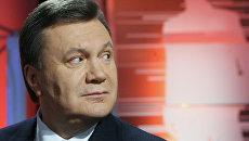 """Виктор Янукович выступил в программе """"Большая политика с Евгением Киселевым"""" на телеканале """"Интер"""""""