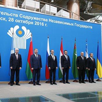 Премьер-министр РФ Д. Медведев принимает участие в заседании Совета глав правительств государств – участников СНГ в Минске