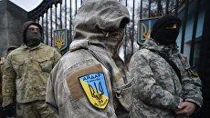 """Митинг батальона """"Айдар"""" у Минобороны Украины"""