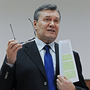 Допрос В. Януковича в режиме видеоконференции в качестве свидетеля по делу о беспорядках в Киеве в феврале 2014 года