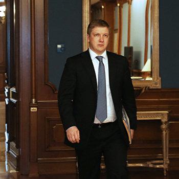 Встреча глав ОАО Газпром и НАК Нафтогаз Украины Алексея Миллера и Андрея Коболева