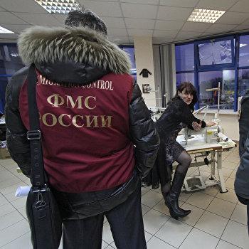 Рейд миграционного патруля в Москве