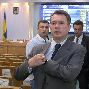 Промежуточная пресс-конференция председателя ЦИК Украины Михаила Охендовского