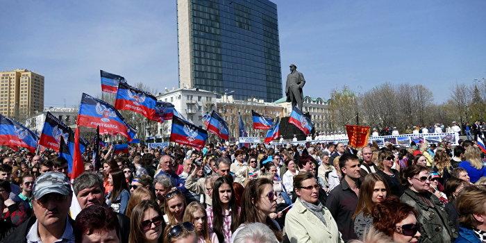 Празднование второй годовщины провозглашения ДНР в Донецке