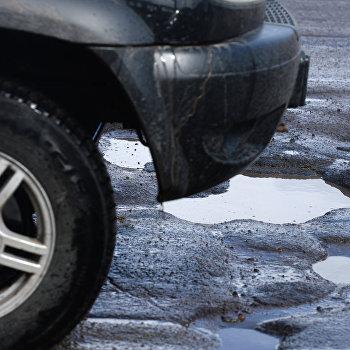 Разбитые дороги в Великом Новгороде