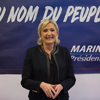 Открытие предвыборного штаба Марин Ле Пен в Париже
