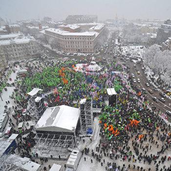 Празднование Дня соборности и свободы в Киеве