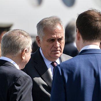 Прилет президента Сербии Томислава Николича в Москву