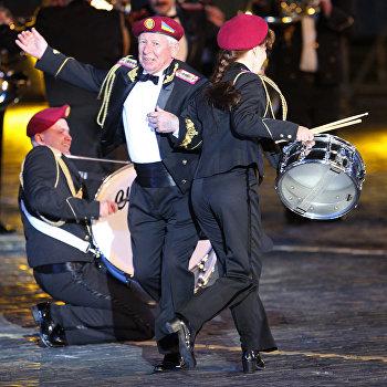 Открытие Международного военно-музыкального фестиваля Спасская башня
