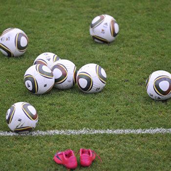 Тренировка сборной России по футболу перед матчем со сборной Бельгии