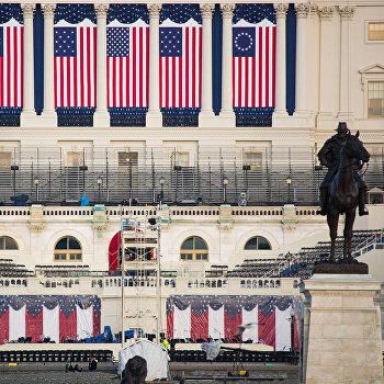 Подготовка к инаугурации президента США Д. Трампа в Вашингтоне