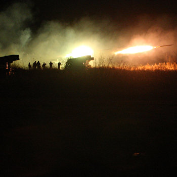 Учения артиллерийских подразделений на Сергеевском полигоне в Приморском крае