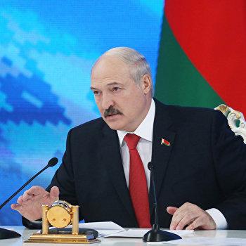 Пресс-конференция с президентом Белоруссии А. Лукашенко в Минске
