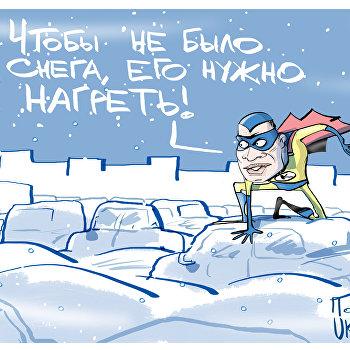 Снег кружится и не тает: Кличко борется со стихией видеообращениями