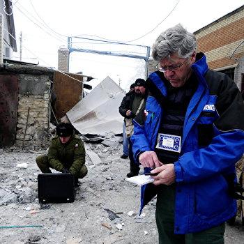 Последствия обстрела г. Дебальцево в Донецкой области