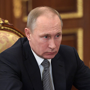 Рабочая встреча президента РФ В. Путина с губернатором Камчатского края В. Илюхиным