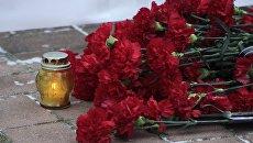 Траурный митинг в Донецке по погибшим пассажирам самолета Ту-154