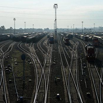 Сортировочная станция Инская в Новосибирске