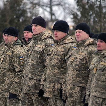 Посещение А. Парубием воинской части ВС Украины во Львовской области