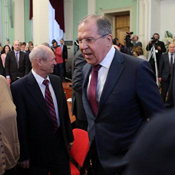 Встреча министра иностранных дел РФ С. Лаврова со студентами и преподавателями Дипакадемии МИД РФ