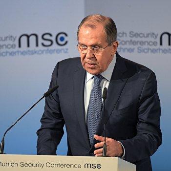 Министр иностранных дел РФ С. Лавров на 53-й Мюнхенской конференции по безопасности