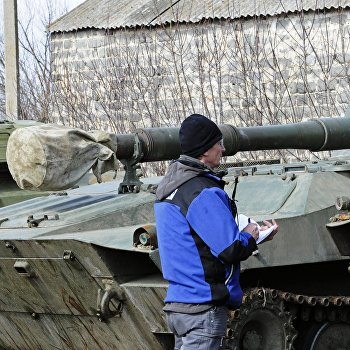 ОБСЕ проконтролировало места отвода артиллерии в Донецкой области