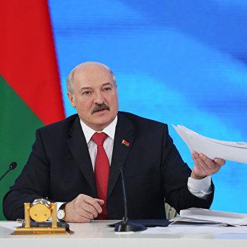 Пресс-конференция президента Белоруссии А. Лукашенко в Минске