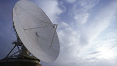 """Одна из антенн Центра спутниковой связи """"Дубна"""