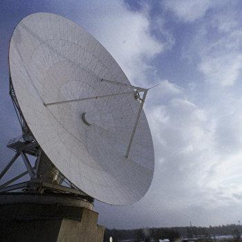 Одна из антенн Центра спутниковой связи Дубна