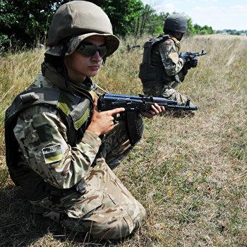 Учения пограничных войск во Львовской области Украины