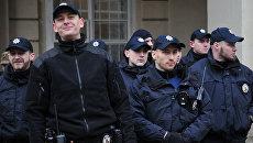 Антиправительственная акция во Львове