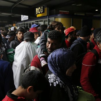Беженцы с Ближнего Востока в Мюнхене