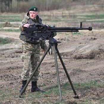 Учения пограничников на военном полигоне под Львовом