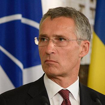 Пресс-конференция генсека НАТО Й.Столтенберга и премьер-министра Украина А. Яценюка