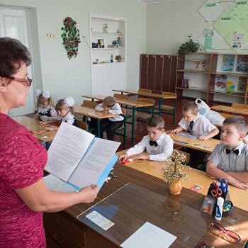 1 сентября в школе имени фотокорреспондента МИА Россия сегодня Андрея Стенина в городе Снежное ДНР
