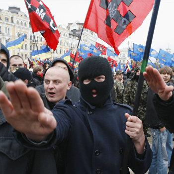 В Киеве состоялся пеший марш за признание бойцов Украинской повстанческой армии (УПА) участниками национального освободительного движения на Украине