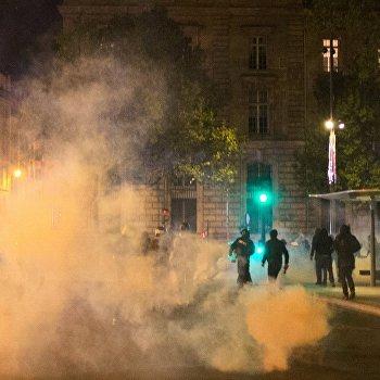 Акции протеста в Париже