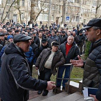В Киеве прошла акция пенсионеров МВД с требованием повышения размера пенсии