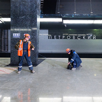 Мэр Москвы С. Собянин осмотрел стадион ВТБ Арена Парк и строительство станции Петровский парк