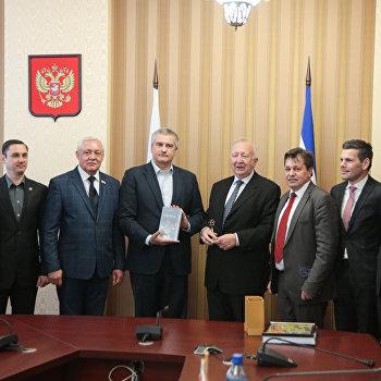 Встреча с делегацией бизнесменов и политиков из Германии и Австрии в Совете министров Республики Крым