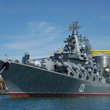 Корабли Черноморского флота РФ в Севастополе