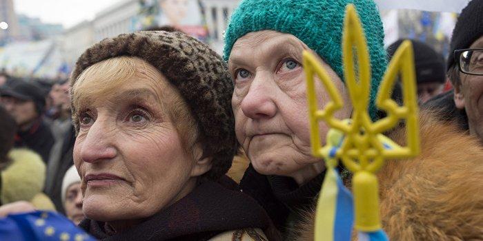 Акция сторонников евроинтеграции День достоинства на площади Независимости в Киеве