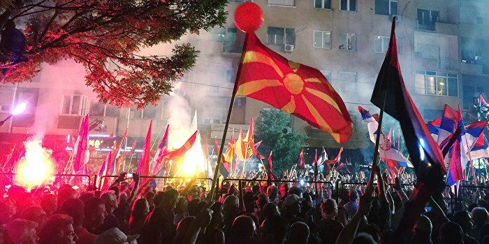 Массовые акции в Македонии